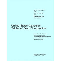 United States-Canadian Tables of Feed Composition